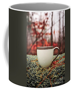 Antique Teacup In The Woods Coffee Mug