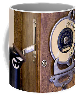Coffee Mug featuring the photograph Antique Telephone by David Millenheft