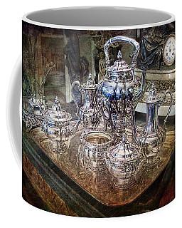 Coffee Mug featuring the photograph Antique Tiffany Sterling Silver Coffee Tea Set by Gunter Nezhoda