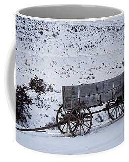 Coffee Mug featuring the photograph Antique Wagon by Michael Chatt
