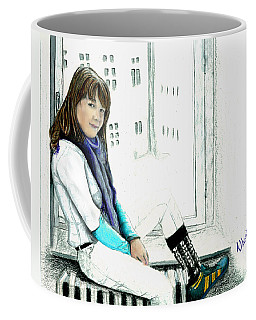 Antonela In The Window Coffee Mug