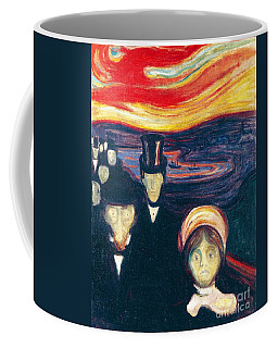 Coffee Mug featuring the painting Anxiety by Pg Reproductions