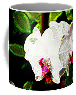 Aos White Orchid 2 Coffee Mug