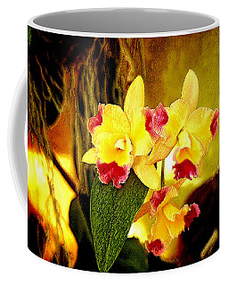 Aos Yellow Orchid 1 Coffee Mug