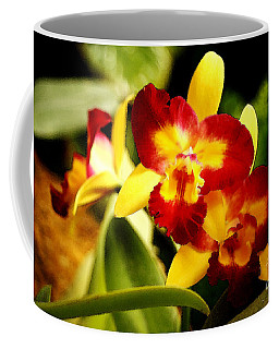 Aos Yellow Orchid 2 Coffee Mug