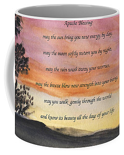 Apache Blessing With Sunset Coffee Mug