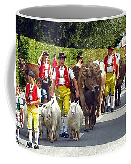Appenzell Parade Of Cows Coffee Mug