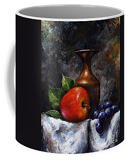Apple And Grapes Coffee Mug