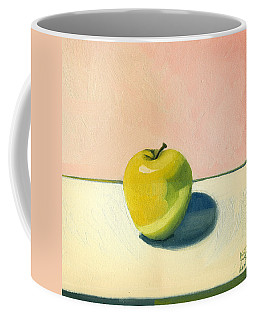 Coffee Mug featuring the painting Apple - Pink And White by Katherine Miller