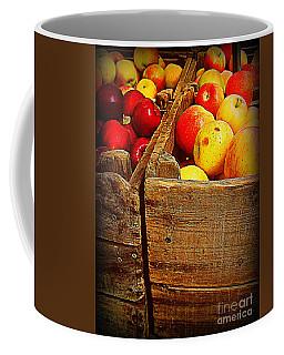 Apples In Old Bin Coffee Mug by Miriam Danar