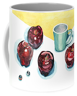 Coffee Mug featuring the painting Apples by Katherine Miller