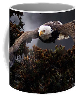 Approaching Eagle-signed- Coffee Mug