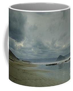 Approaching Storm - Morro Rock Coffee Mug by Terry Garvin