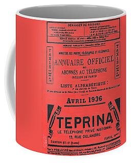 April In Paris 1936 Coffee Mug