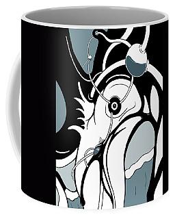 Aqua Grid Coffee Mug