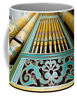 Aqua To Gold Organ Pipes Coffee Mug