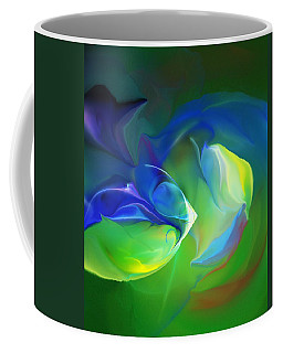 Coffee Mug featuring the digital art Aquatic Illusions by David Lane