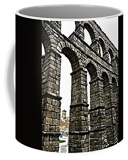 Coffee Mug featuring the photograph Aqueduct Of Segovia - Spain by Juergen Weiss