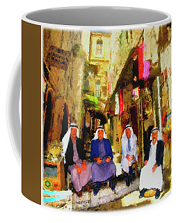 Coffee Mug featuring the painting Arab Merchants Of Jerusleum by Ted Azriel