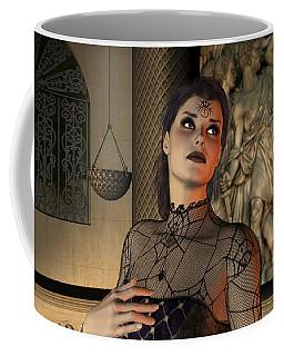 Coffee Mug featuring the digital art Arachna by Jayne Wilson