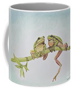Arboreal Frogs In Pastel Coffee Mug