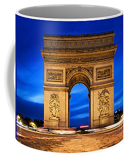 Arc De Triomphe At Night Paris France  Coffee Mug