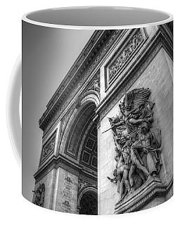 Arc De Triomphe In Black And White Coffee Mug