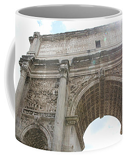 Coffee Mug featuring the photograph Arch Of Titus by Nancy Ingersoll