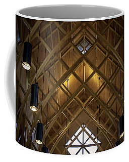 Arched Trusses - University Of Florida Chapel On Lake Alice Coffee Mug by Lynn Palmer