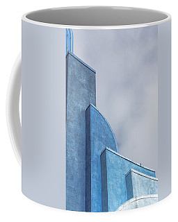 Coffee Mug featuring the photograph Architecture In Blue by Susan Leonard