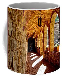 Archway By Courtyard In Castello Di Amorosa In Napa Valley-ca Coffee Mug