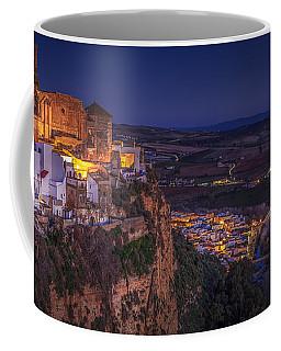 Arcos De La Frontera Panorama From Balcon De La Pena Cadiz Spain Coffee Mug by Pablo Avanzini