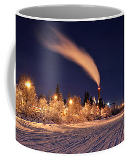 Arctic Power At Night Coffee Mug