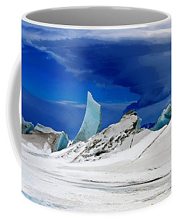 Coffee Mug featuring the digital art Arctic Pressure Ridge by David Blank