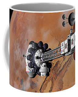 Ares1 Captured Over Valles Marineris Coffee Mug by David Robinson