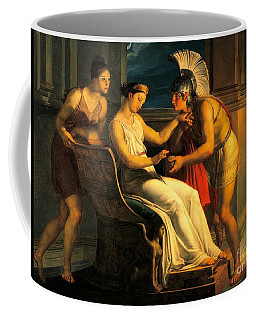 Ariadne Giving Some Thread To Theseus To Leave Labyrinth Coffee Mug