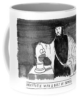 Aristotle With A Bust Of Homer: Coffee Mug