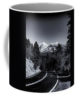 Arizona Country Road In Black And White Coffee Mug