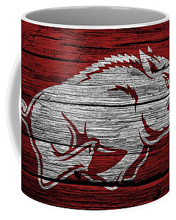 Arkansas Razorbacks On Wood Coffee Mug