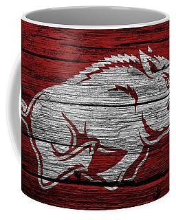 Arkansas Razorbacks On Wood Coffee Mug