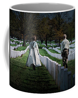 Coffee Mug featuring the digital art Arlington by David Blank