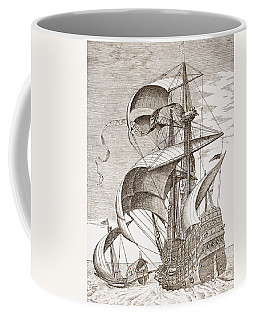 Armed Three-master On The Open Sea Coffee Mug