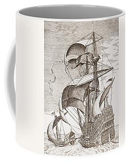 Armed Three-master On The Open Sea Coffee Mug
