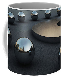 Coffee Mug featuring the digital art Around Circles by Richard Rizzo