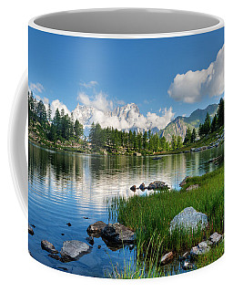 Arpy Lake - Aosta Valley Coffee Mug by Antonio Scarpi