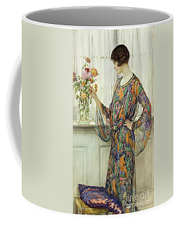 Arranging Flowers Coffee Mug