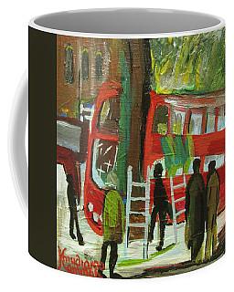 Coffee Mug featuring the painting Arriva London North Ltd. -  Destroyed My Life by Mudiama Kammoh