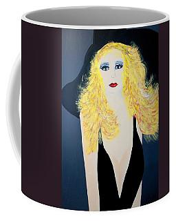 Art Deco Girl With Black Hat Coffee Mug