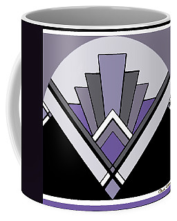 Art Deco Pattern Two - Purple Coffee Mug
