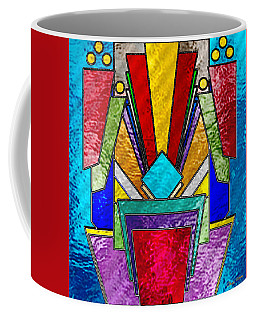 Art Deco - Stained Glass 6 Coffee Mug